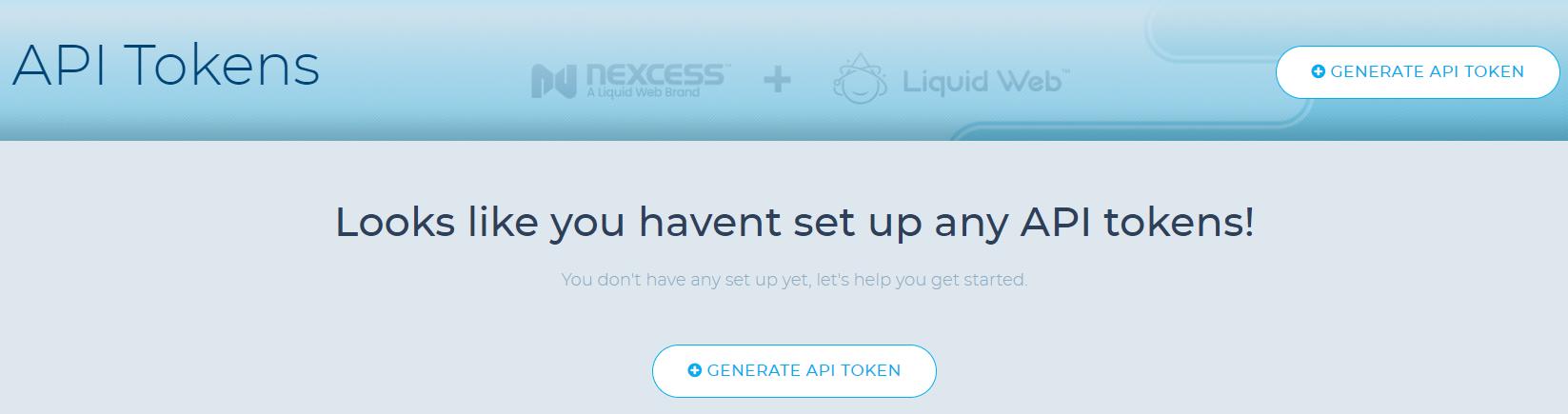 liquid web-security-api token