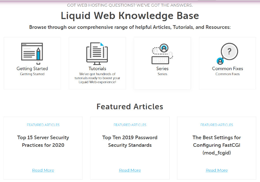 liquid web-support-knowledge base