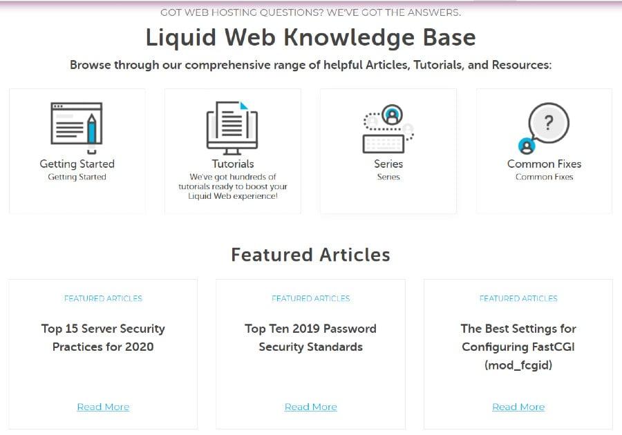 liquid web-support-knowledge base