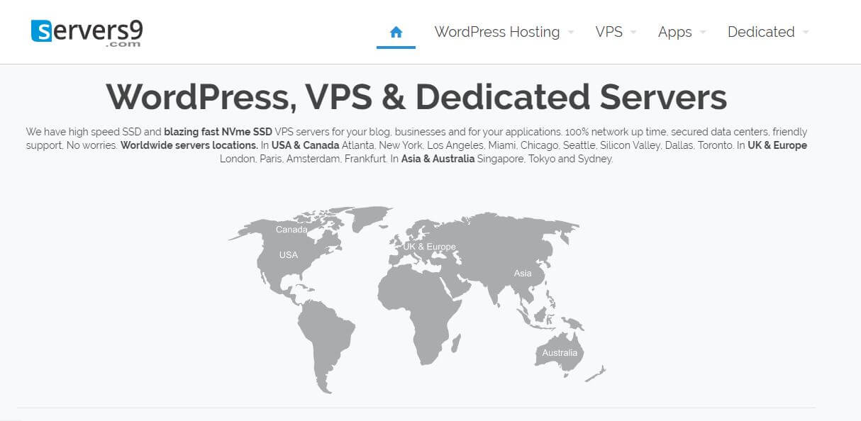 Servers9 Homepage