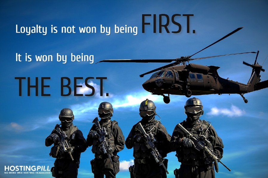 Loyalty is not won by being first. It is won by being best. – Stefan Persson