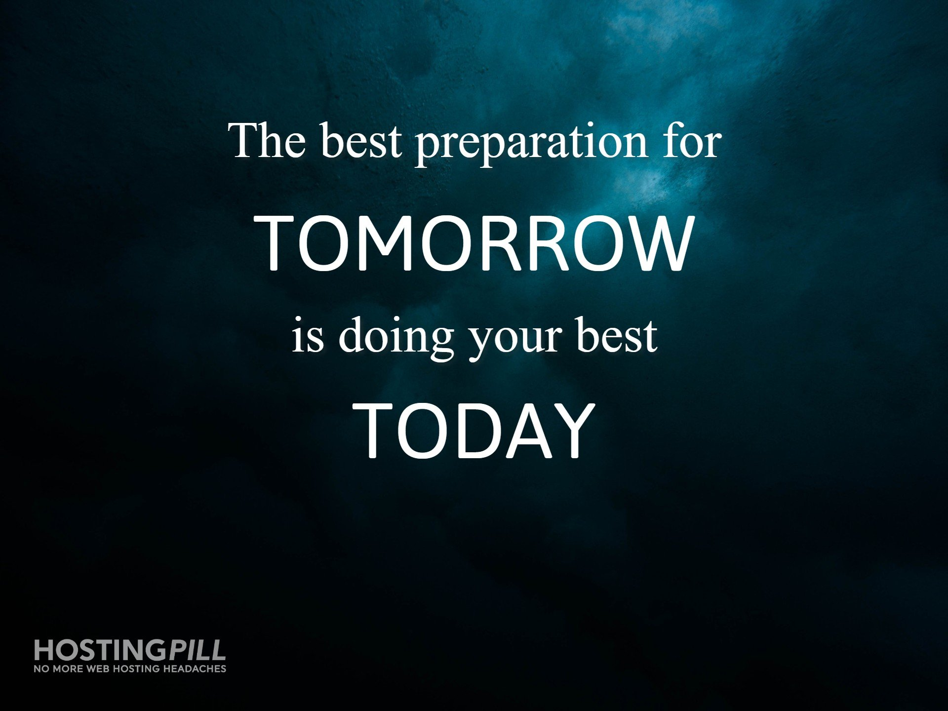 The best preparation for tomorrow is doing your best today. - H Jackson Brown Jr.