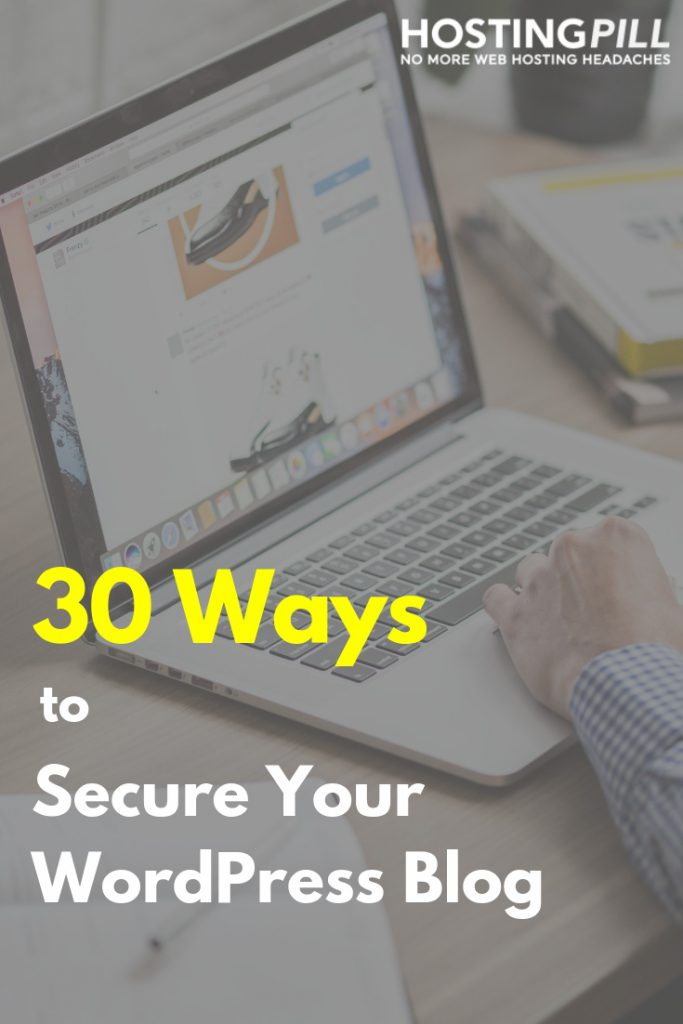 30 Ways to Secure Your WordPress Site infographic