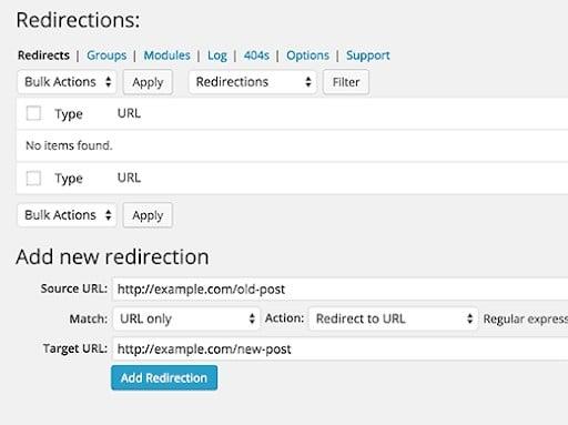 301 redirect process
