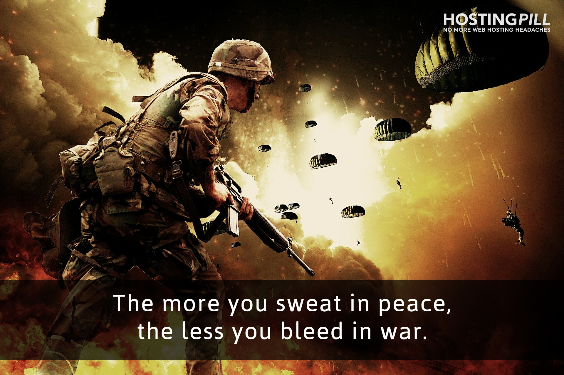 The more you sweat in peace, the less you bleed in war. - John. F. Kennedy
