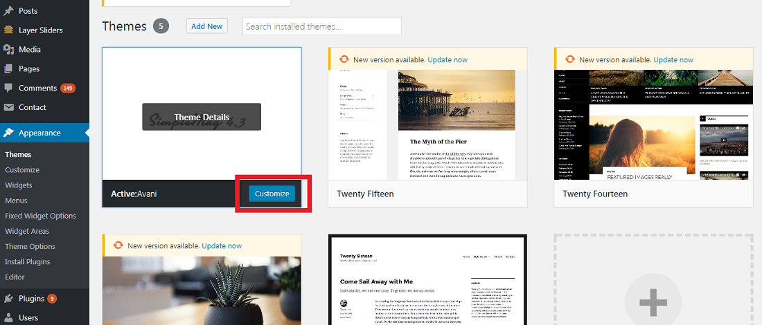 6. customize theme wordpress on your blog