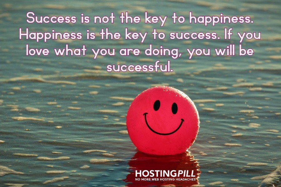 Success is not the key to happiness. Happiness is the key to success. If you love what you are doing, you will be successful. - Albert Schweitzer