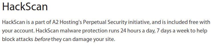 A2 hosting Hack scan