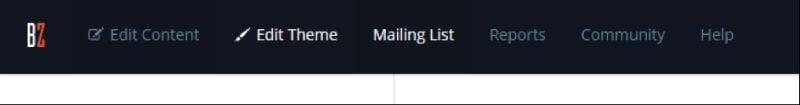 Bandzoogle mailing list
