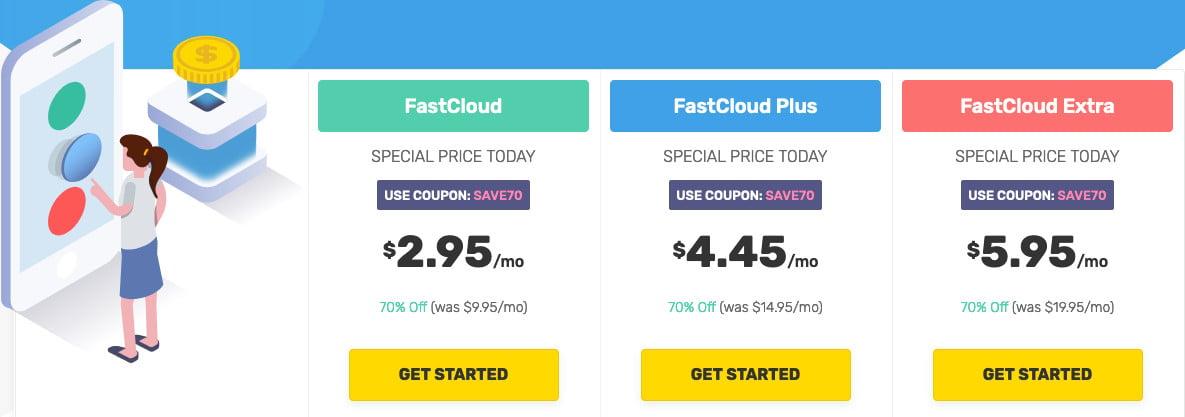 fastcomet regular and sale price