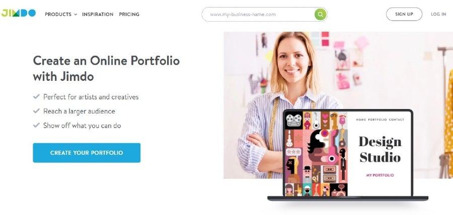 Jimdo portfolio website