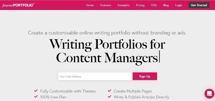 Journo portfolio website