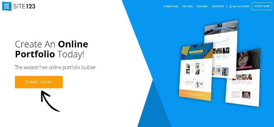 Site 123 portfolio website