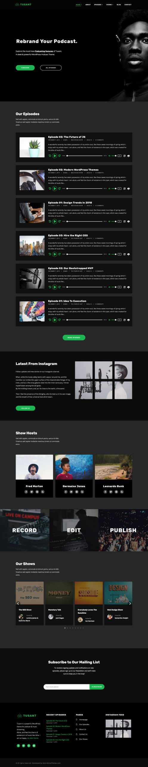 Tusant wp theme