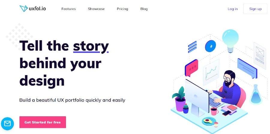 Uxfol portfolio website