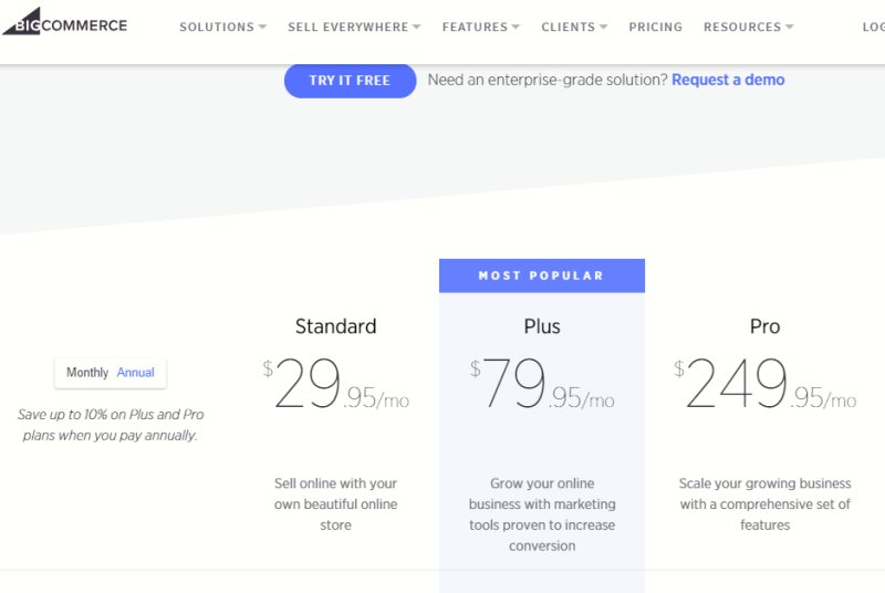 Bigcommerces Pricing-BIGCOMMERCE