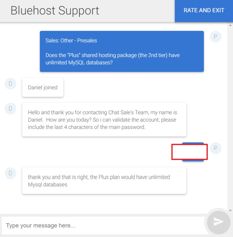 bluehost chat