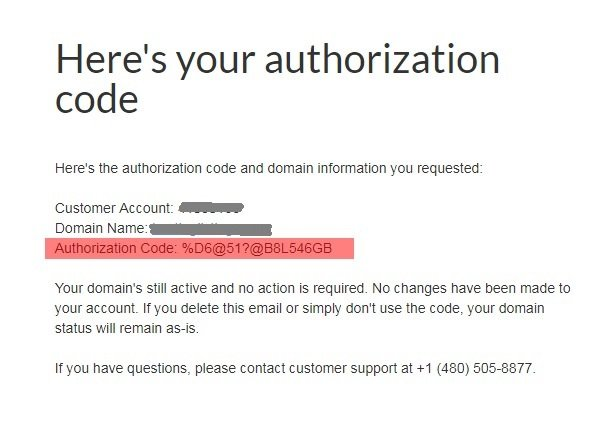 email_authorization_code by godaddy hosting 2018