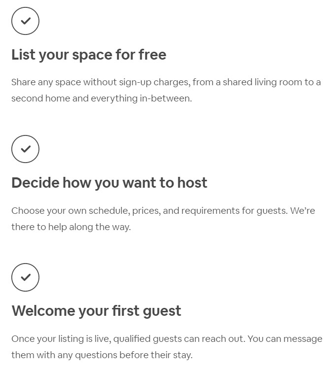 Airbnb host site