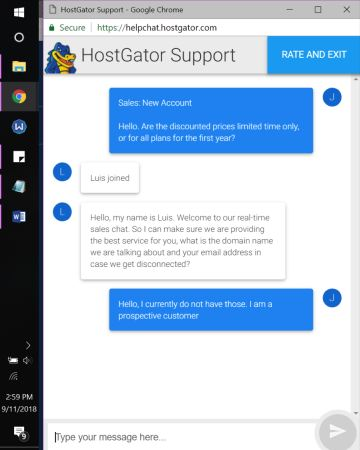 hostgator support chat 2
