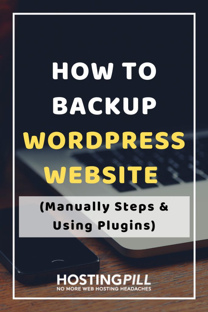 how to backup site infographic