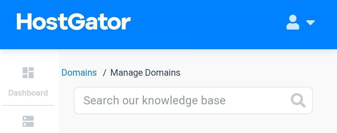 hostgator manage domain
