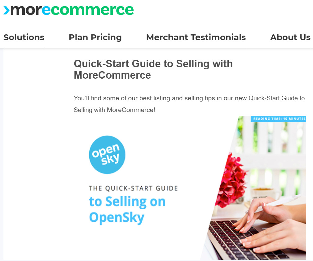 morecommerce opensky