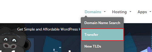 select domain transfer from namecheap