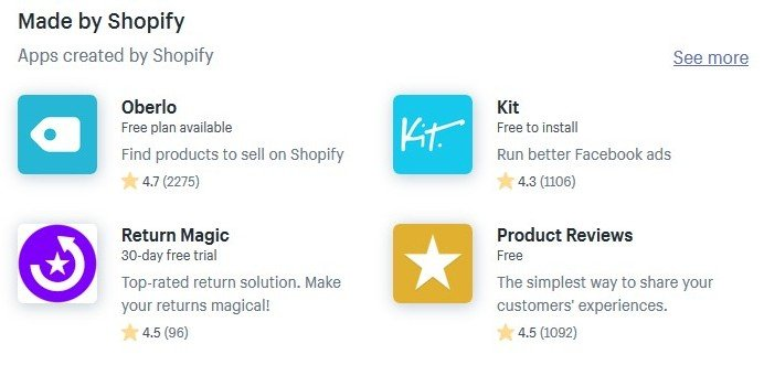 shopify appstore