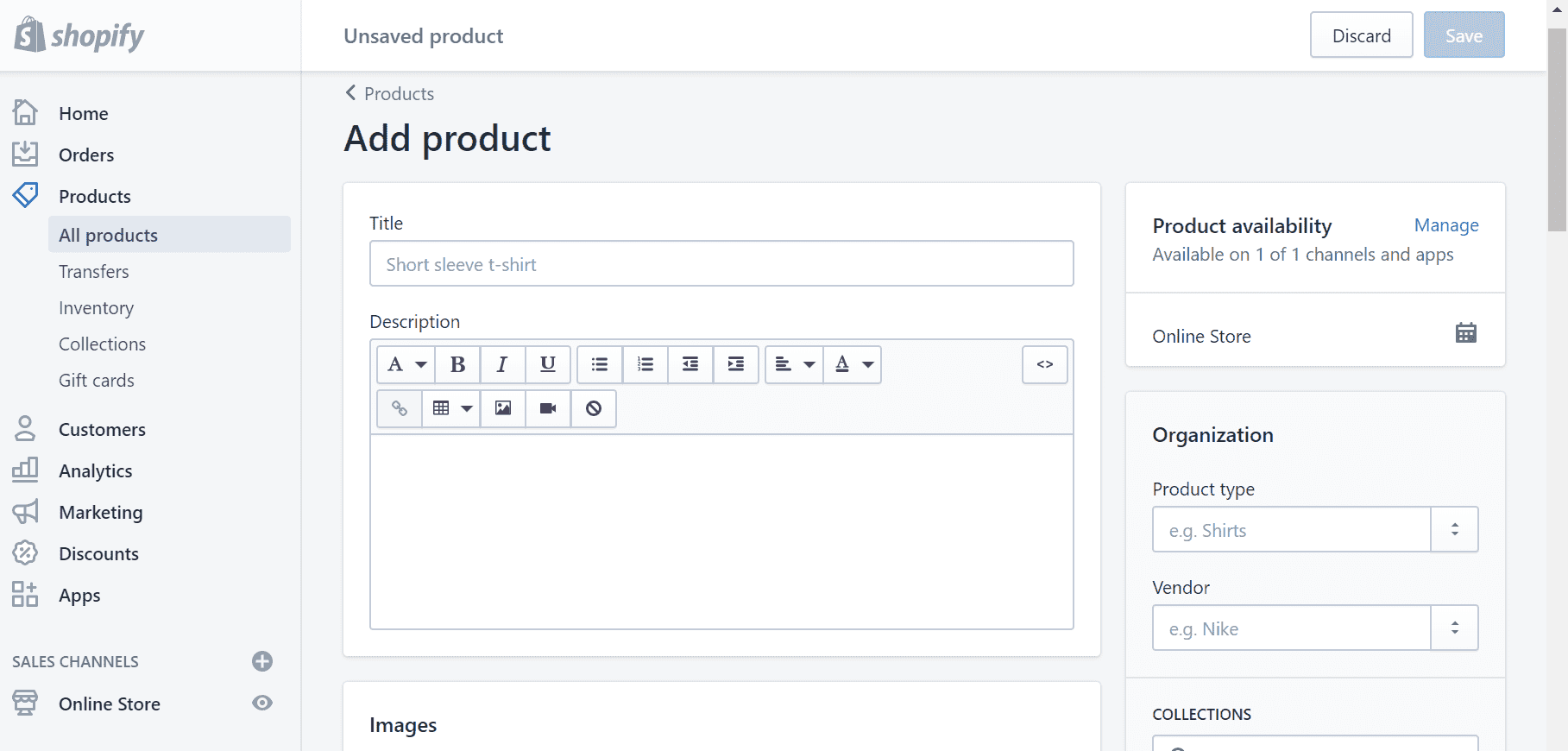 shopify features addproduct