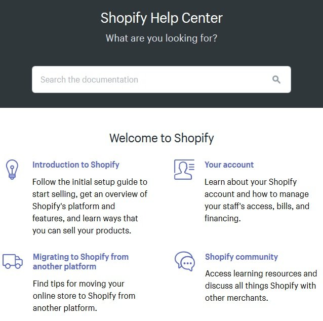 shopify help center