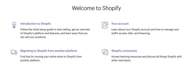 shopify knowledge base