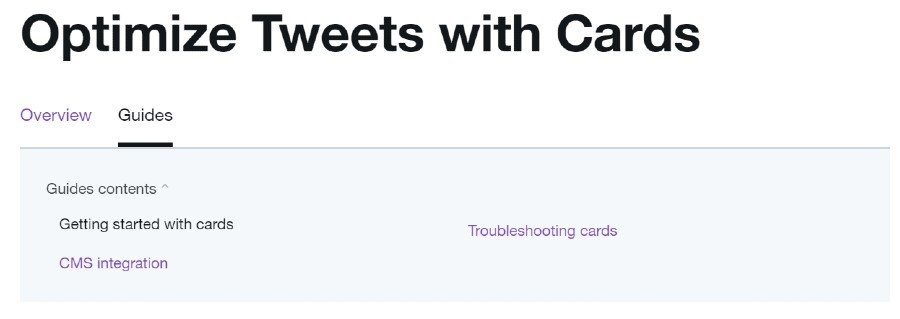 use twitter cards