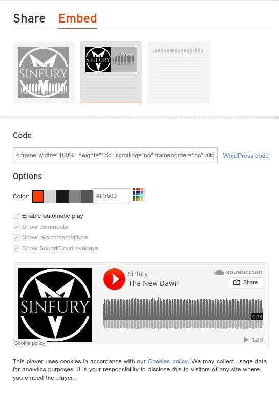 wordpress incrustar soundcloud