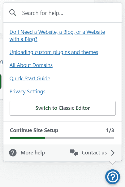 wp.com support helpbutton