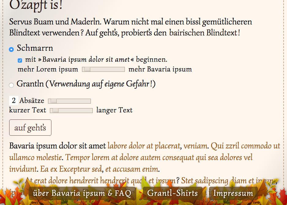 Bavaria Ipsum tested