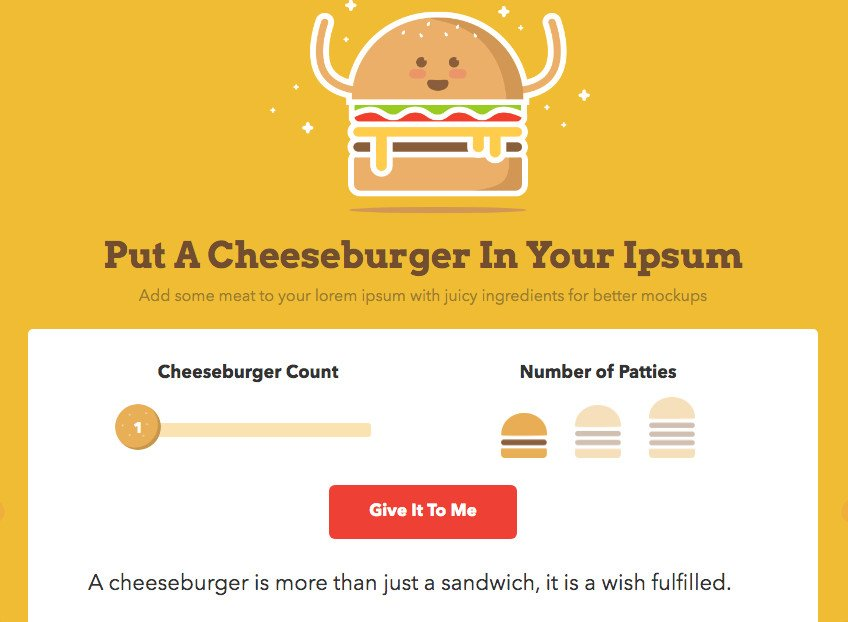 Cheeseburger Ipsum or tested