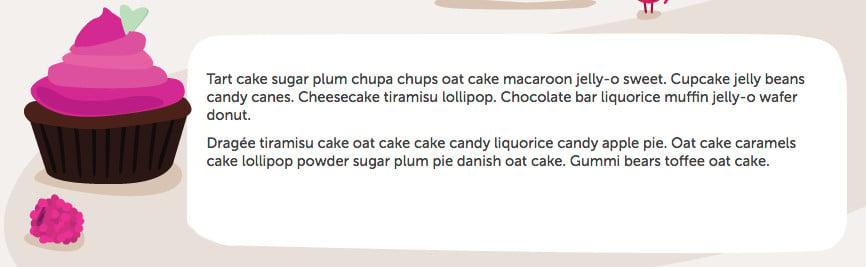 Cupcake Ipsum tested