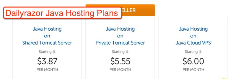 Dailyrazor Java Hosting Plans