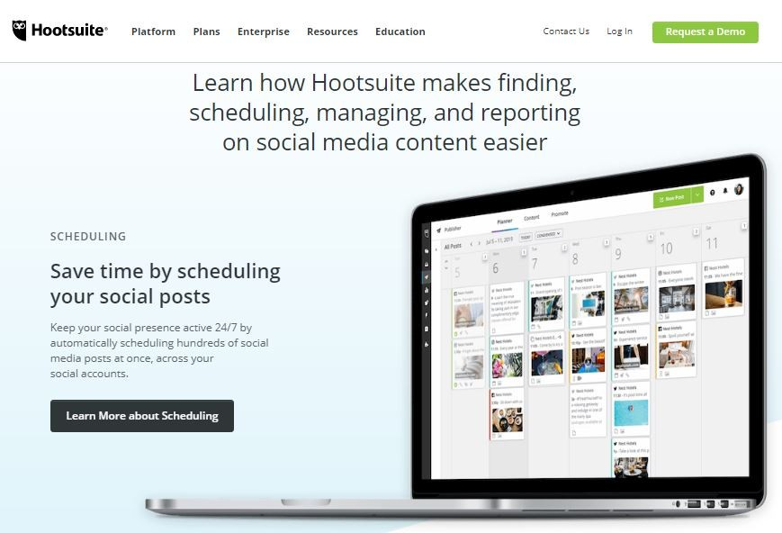 Hootsuite tools to automate website