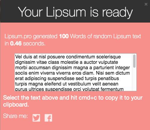 Lipsum.pro tested