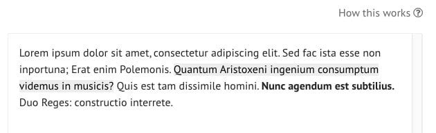 Loripsum.net tested