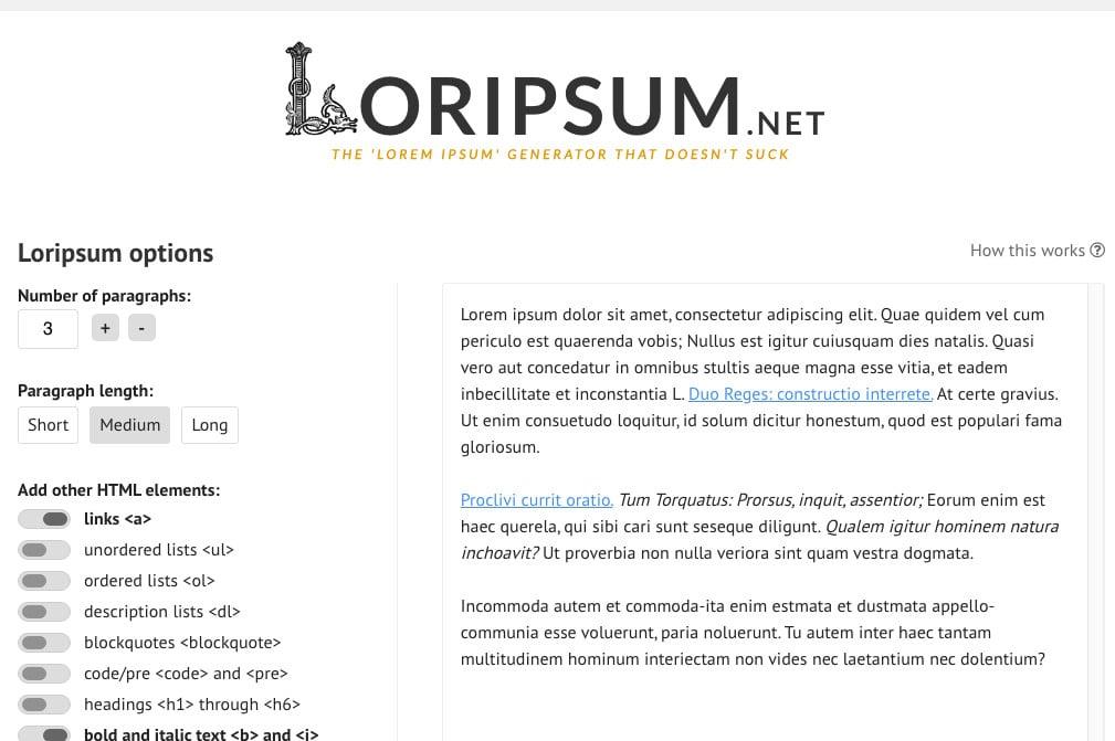 Loripsum.net