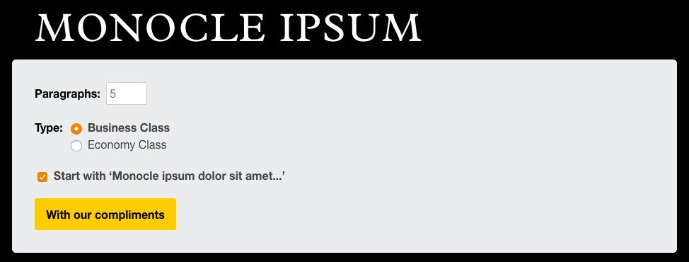 Monocle Ipsum