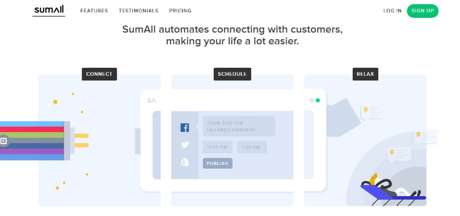 SumAll tools to automate website