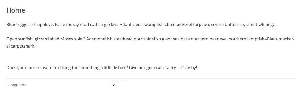 Tuna Ipsum tested