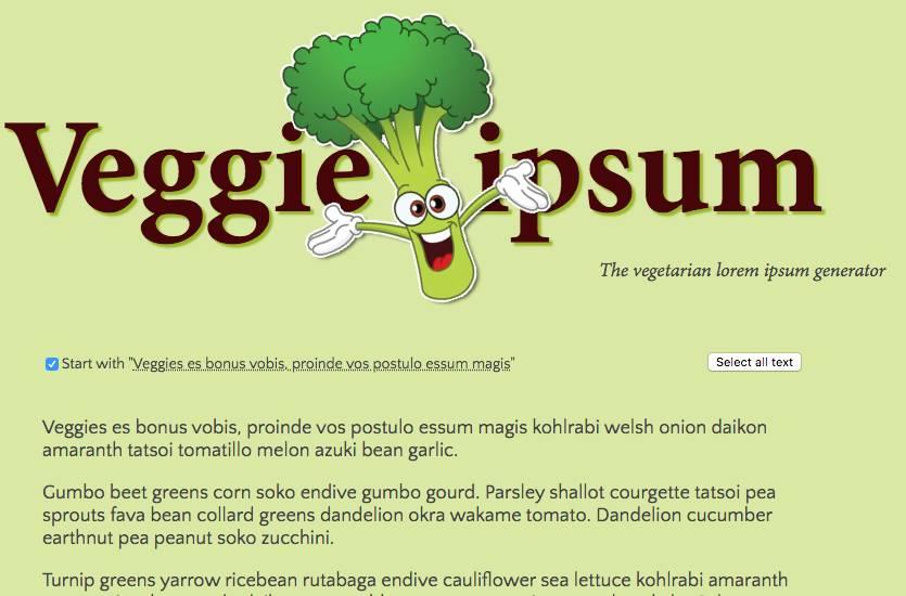 Veggie Ipsum