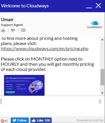 cloudways chat 2 for wiki hosting