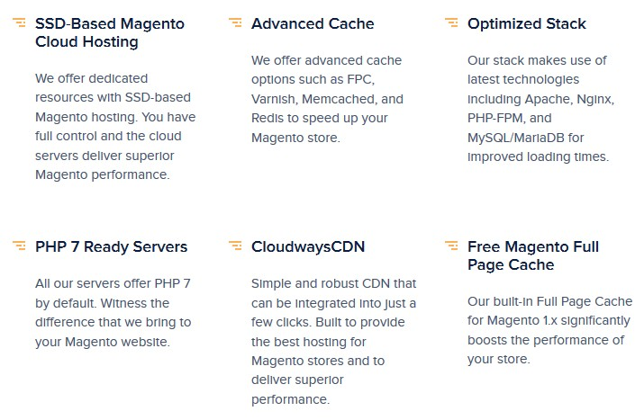 cloudways magento features
