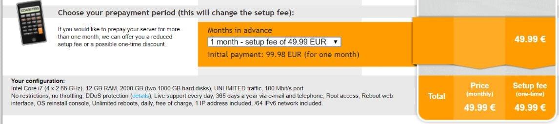 contabo setup fees